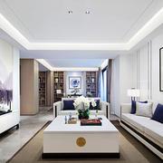 中式风格素雅别致客厅设计装修效果图