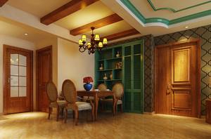 中式田园风格70平米室内设计装修图