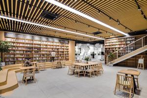 110平米简约风格书店设计装修效果图