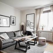 简约温馨北欧风格小户型客厅设计装修效果图