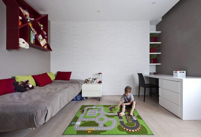 20平米现代简约风格儿童房装修效果图