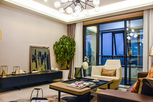温馨典雅简欧风格精美三室两厅样板房装修效果图