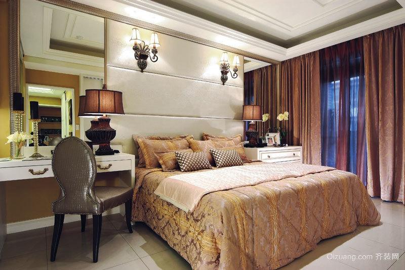 典雅时尚精美卧室窗帘设计装修效果图