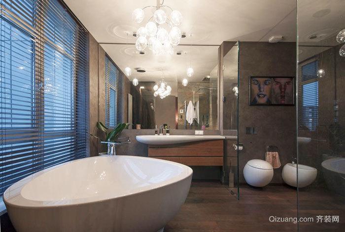 8平米精美现代风格卫生间装修效果图