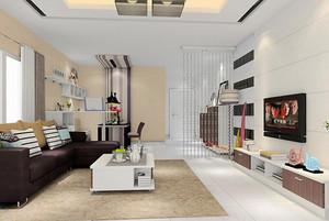 现代简约风格精美客厅设计装修效果图