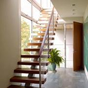 现代风格精美实木楼梯设计装修效果图