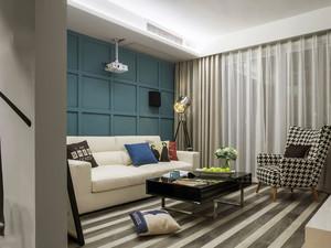 现代风格精致小户型客厅设计装修图