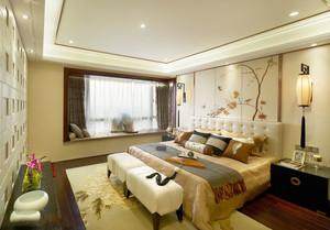 新中式风格素雅精美卧室飘窗设计装修效果图