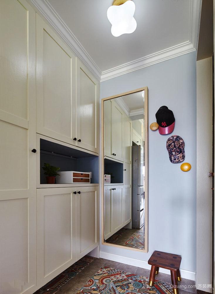 欧式风格精致玄关鞋柜设计装修效果图