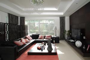 古朴精致中式风格客厅设计装修效果图