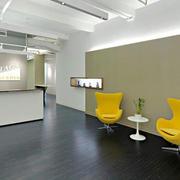 现代风格简单整洁公司前台设计装修图