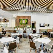 45平米现代风格整洁快餐店装修效果图