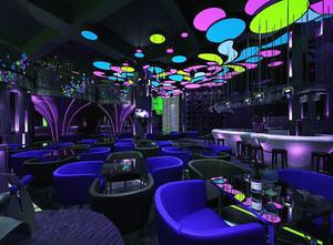 现代风格时尚金属风酒吧装修图片