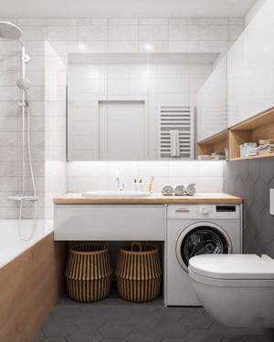 46平米时尚整洁简约风格单身公寓装修效果图