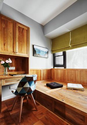 宜家风格实木书房榻榻米设计装修效果图