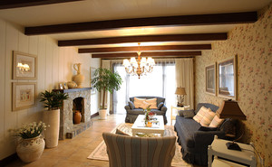 自然清新欧式田园风格两室两厅室内装修图