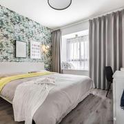 现代风格温馨舒适卧室窗帘设计装修效果图