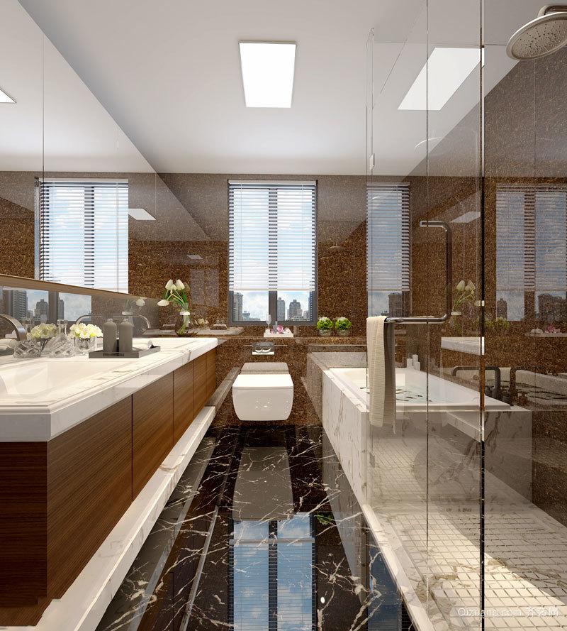 新中式风格精致卫生间设计装修效果图