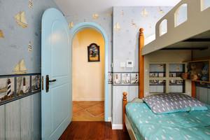 清新地中海风格卧室门设计装修效果图