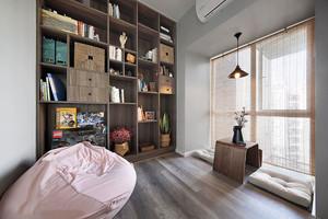 新中式风格16平米书房设计装修效果图
