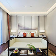 幽静雅致新中式风格卧室装修效果图