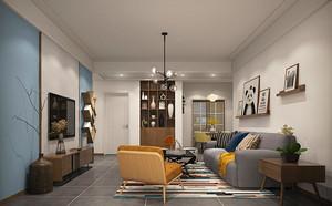 86平米宜家风格简约三室两厅设计装修效果图