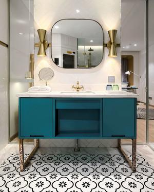 新古典主义风格卫生间浴室柜设计装修图