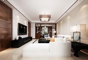 简洁素雅新中式风格80平米室内装修图