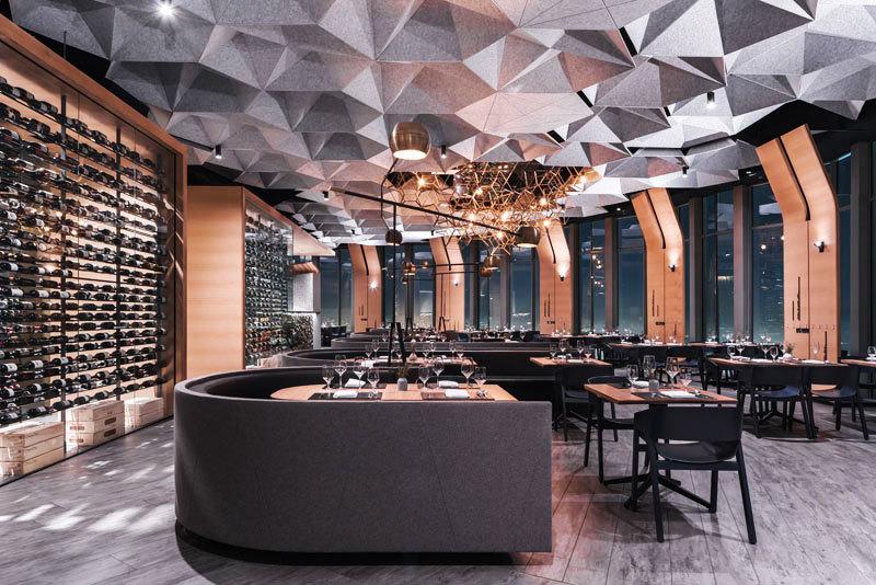 现代风格时尚创意西餐厅装修效果图
