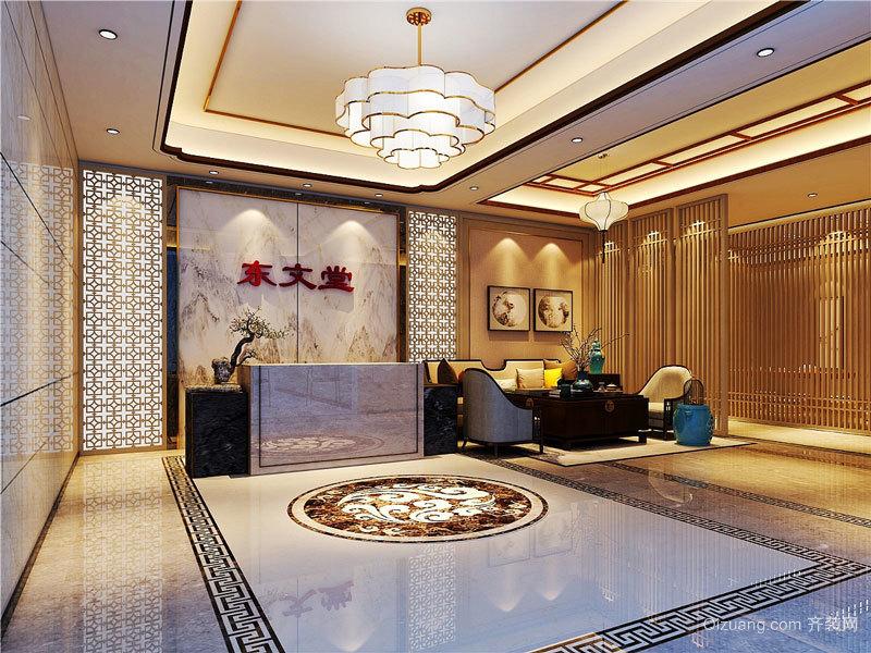 欧式风格奢华美容院前台设计装修图