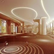 现代风格100平米健身房装修效果图