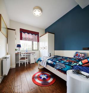 美式创意美国队长儿童房设计装修图