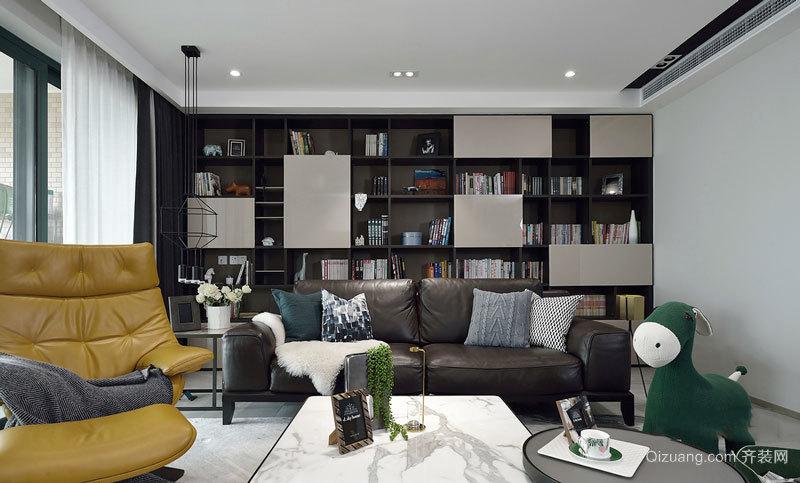 后现代风格客厅书房一体设计装修效果图
