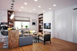 简约风格小户型客厅吧台设计装修效果图