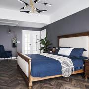 复古简单美式风格卧室装修设计图