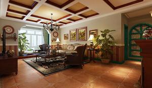 美式乡村风格精致90平米室内装修效果图