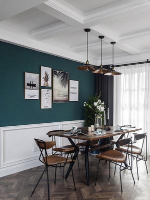 现代美式风格精美餐厅设计装修效果图