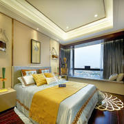 新古典风格时尚大气卧室飘窗设计装修图