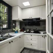 10平米现代风格白色厨房设计装修效果图