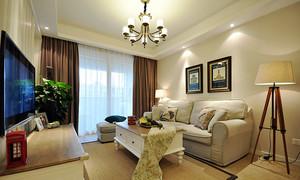 温馨小美式风格两室两厅室内设计装修效果图