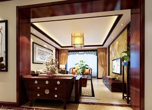 古典中式风格精致两居室装修效果图