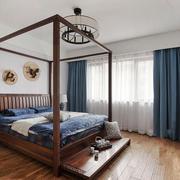 复古精致中式风格卧室设计装修效果图