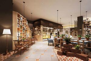 清新宜家风格40平咖啡厅装修效果图