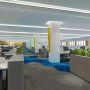 现代简约风格80平米办公室装修效果图