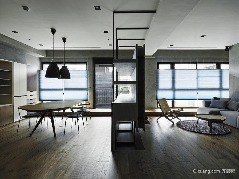 现代风格客厅隔断墙设计装修效果图