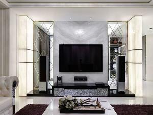 现代风格时尚精致客厅电视背景墙装修图