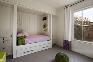 简欧风格浅色儿童房卧室设计装修效果图
