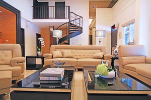 135平米简约风格复式楼室内设计装修效果图