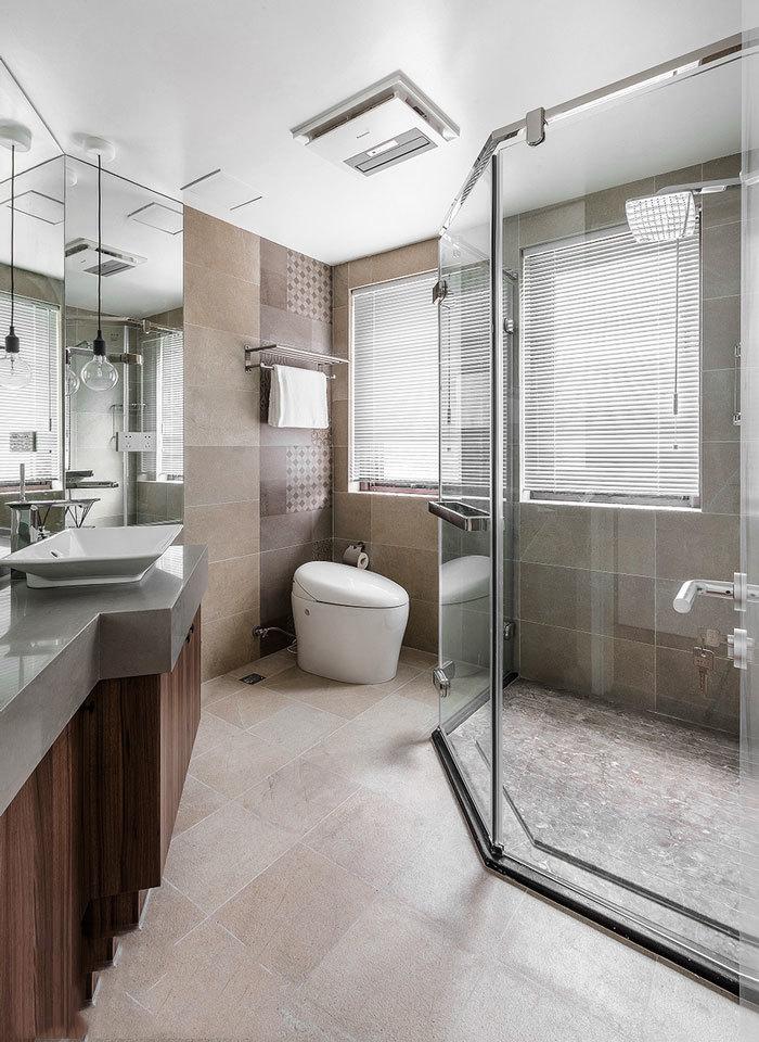 8平米简约风格卫生间淋浴房装修效果图