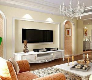 简约温馨时尚客厅电视背景墙设计装修效果图